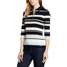 Gerry Weber Navy Strip Polo Top - NOW €35 Was €70