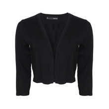 Chetta B Black Short Knit Bolero