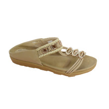 Vice Verso Beige Jewel Slide Sandal