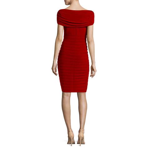 Scarlett  Poppy Sleeveless Drape Sheath Dress