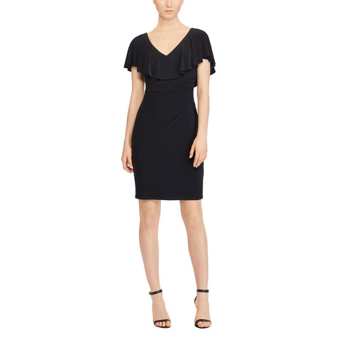Lauren by Ralph Lauren RUFFLED STRETCH JERSEY DRESS
