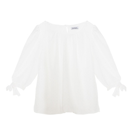 Zapara Off White Sweetheart Blouse