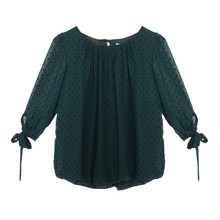 Zapara Black Sweetheart Blouse