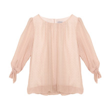 Zapara Peach Sweetheart Blouse