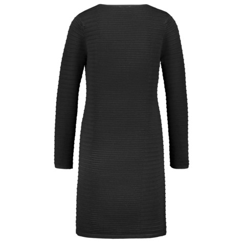 Gerry Weber City Stories Black Ribbed Long Sleeve Dress