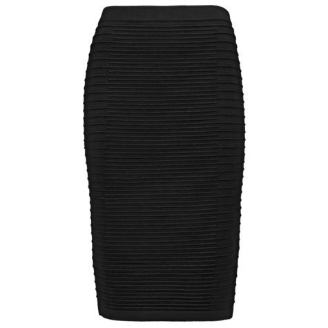 Gerry Weber City Stories Black Ribbed Long Sleeve Skirt
