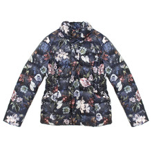 Gerry Weber Autumn Peak Navy Floral Print Padded Coat