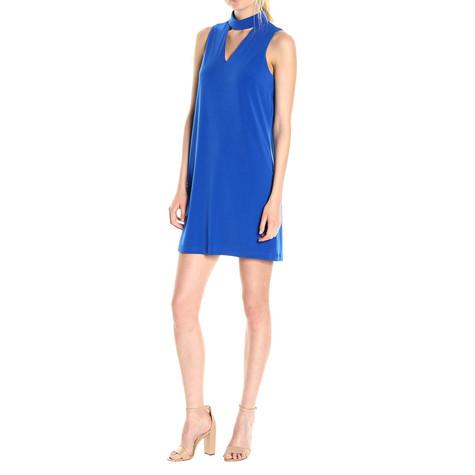 London Times Royal Blue High Neckline Dress