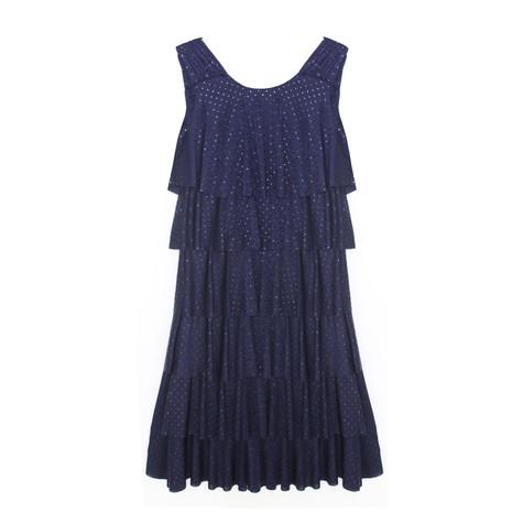 Zapara Navy Layered Pattern Dress