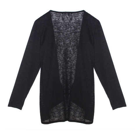 SophieB Black Open Light Weight Knit