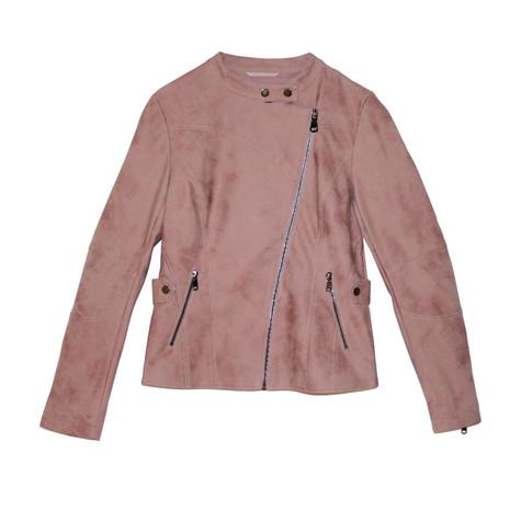 Laura Jo Light Pink Suede Feel Jacket