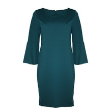 Ronni Nicole Dark Green Bell Sleeve Dress