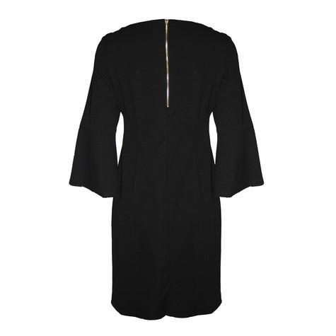 Ronni Nicole Black Round Neck Bell sleeve Dress