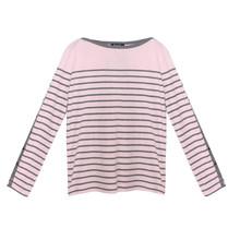 Twist Pink & Grey Stripe Top