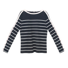 Twist Navy & White Stripe Top