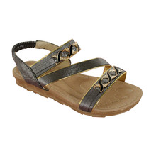 Ami Star Grey Soft Strap Sandals