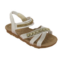 Ami Star White Metallic Soft Strap Sandal