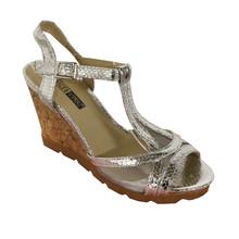 Vice Verso Silver Metallic T-Bar Sandal