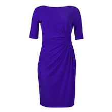 London Times Royal Blue Rouched Dress