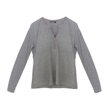Twist Dark Grey Diamante Detail Top