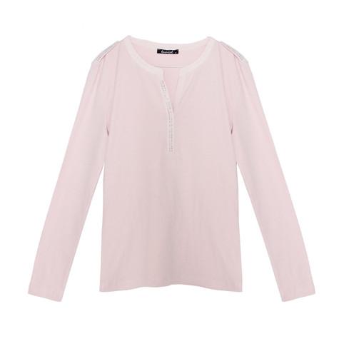 Twist Pink Diamante Long Sleeve Top