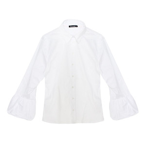 Twist White Puff Sleeve Shirt
