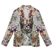 Zapara Green Floral Print Light Jacket