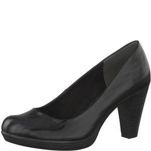 Marco Tozzi Black Platform Sole Court Shoe