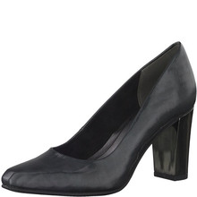 Marco Tozzi Steel Grey Chisel Toe Court Shoe