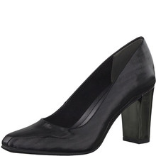 Marco Tozzi Black Chisel Toe Court Shoe