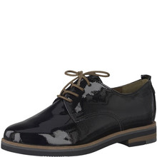 Marco Tozzi Black Laced Derby Shoe