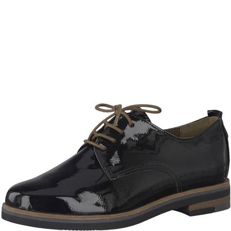 Marco Tozzi Black Laced Derby Shoe   Pamela Scott c4e9a45778