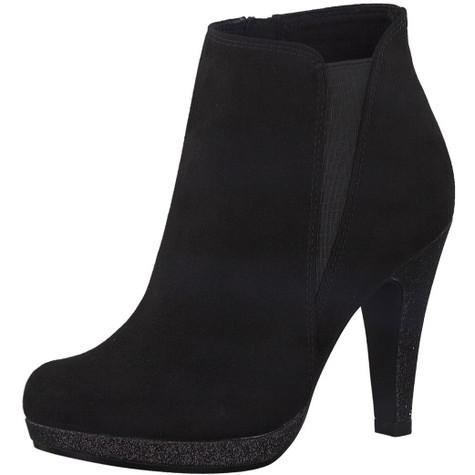 Marco Tozzi Black Slim Platform High Top Boot