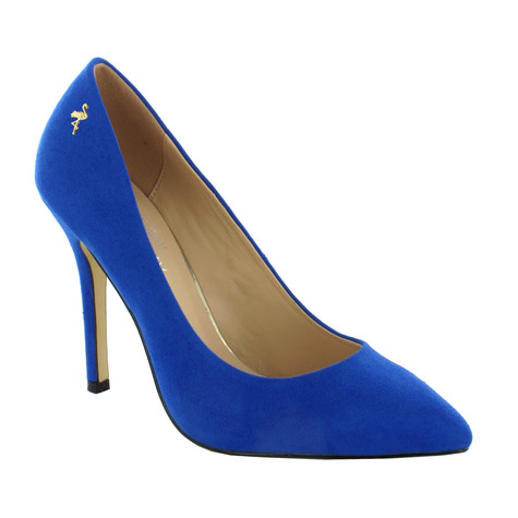 Pacomena Blue High Heel Court Shoe