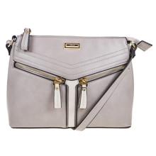 Gionni Grey Zipper Handbag