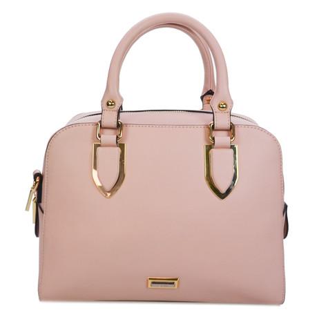 Gionni Light Pink Bowling Style Handbag