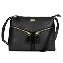 Gionni Black Zipper Detail Handbag
