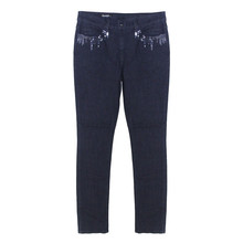 Twist Blue Soft Touch Sequence Pocket Detail Trousers