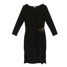 Zapara Black Wrap Buckle Dress