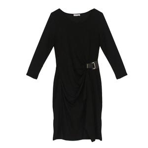 Zapara Black Wrap Buckle Dress