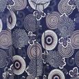 Twist Navy Spiral Pattern Print Top