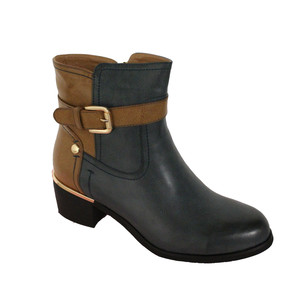 Zanni Cobalt & Tan Ankle Boot