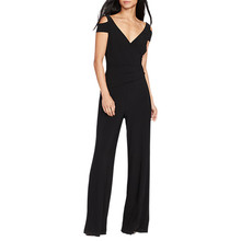 Lauren by Ralph Lauren Black Ivanka V-Neck Jumpsuit