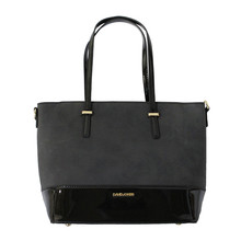 Dave Jones Black & Dark Grey Handbag