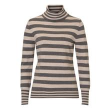 Betty Barclay Turtle Neck Grey & Beige Stripe Knit