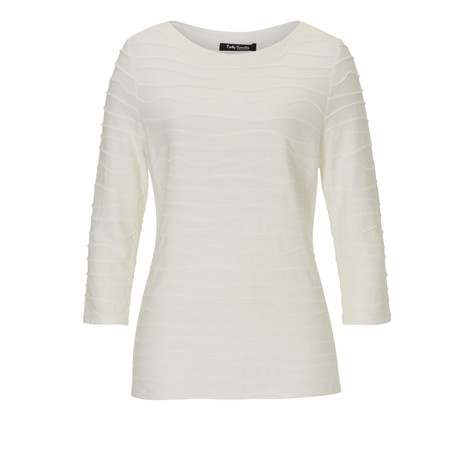 Betty Barclay Cream Waffle Layer Top