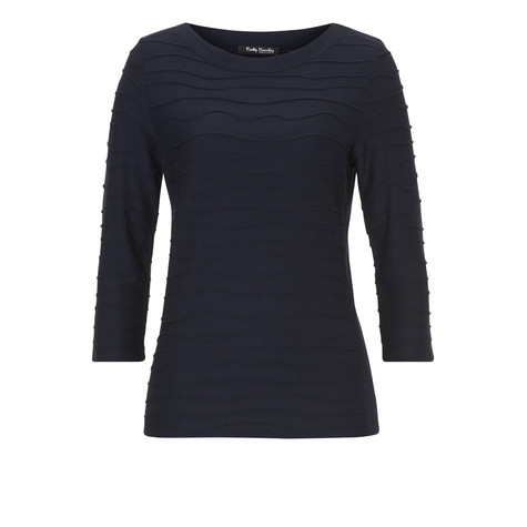 Betty Barclay Navy Waffle Layer Top