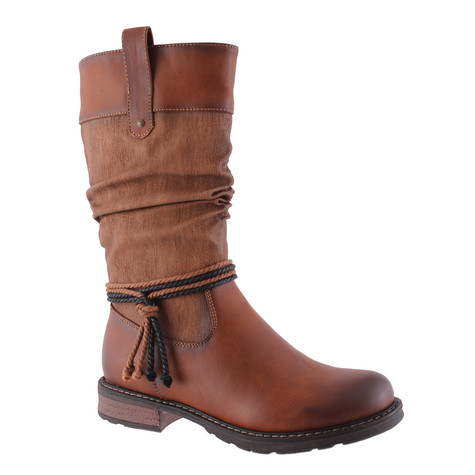 Susst Brown 3/4 Casual Slouchy Boot