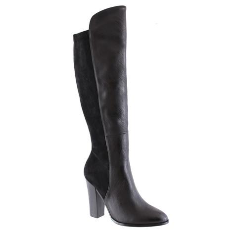 Susst Black Knee 2 Tone Heel Boot