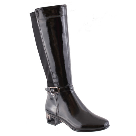 Susst Black High Patent Boots